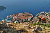 City of Dubrovnik in Croatia from above — Stock Photo