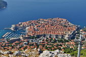 City of Dubrovnik in Croatia from above — Stock fotografie