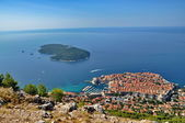 City of Dubrovnik in Croatia from above — 图库照片