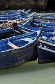 Barcos de pesca azul de essaouira — Foto de Stock