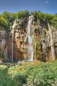 The bigest waterfall (Veliki Slap) at Pltvice Lakes in Croatia — Stock Photo