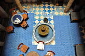 ESSAOUIRA - SEPTEMBER 29: Inside part of a typical accommodation — Stock Photo