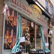 Historical Salumeria with Italian meat specialties in Verona - Stock Photo