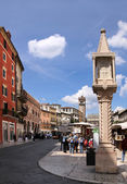 Old market column in Verona — Stock Photo