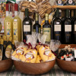 Market stall with delicacies in Verona — Stock Photo #12512547