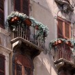 Balconies at old town houses in Verona — Stock Photo #12513919