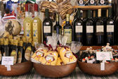 Market stall with delicacies in Verona — Stock Photo
