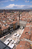 View over the Piazza delle Erbe in Verona — Stock fotografie
