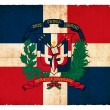 Grunge flag of Dominican Republic — Stock Photo #13705227
