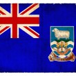Grunge flag of the Falkland Islands  (British Overseas Territory - Stock Photo