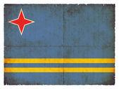 Grunge flag of Aruba (Netherlands) — Stock Photo