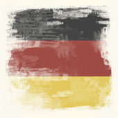 Grunge flag of Germany — Стоковое фото