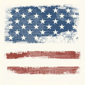 Grunge flag of the USA — Photo