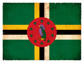 Grunge flag of Dominica — Stockfoto