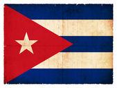 Drapeau de grunge de Cuba (Pays-Bas) — Photo