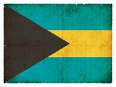 Grunge vlajka baham — Stock fotografie