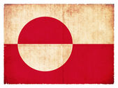 Grunge flag of Greenland (Danish Territory) — Foto de Stock