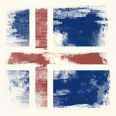 Grunge flag of Iceland — Stockfoto