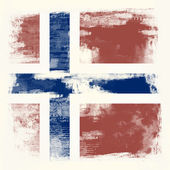 Grunge flag of Norway — Stockfoto