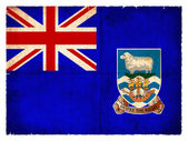 Grunge flag of the Falkland Islands (British Overseas Territory — Stock Photo