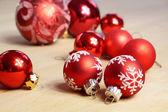 Small red Christmas balls — Stock Photo