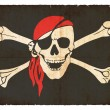 Grunge flag of pirates - Stock Photo
