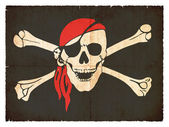 Grunge flag of pirates — Stock Photo