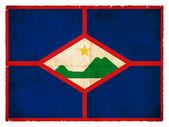 Grunge flag of Sint Eustatius (Netherlands) — 图库照片
