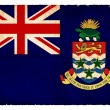 Grunge flag of the Cayman Islands (British overseas territory) I — Stock Photo