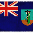 Grunge flag of Monserrat (British overseas territory) — Stock Photo