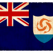 Grunge flag of Anguilla (British overseas territory) — Stock Photo