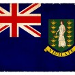 Grunge flag of the British Virgin Islands (British overseas terr — Stock Photo