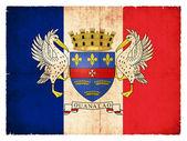 Grunge flag of the island of Saint Barthelemy — Stock Photo
