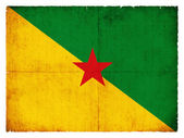 Grunge flag of French Guiana — Stock Photo