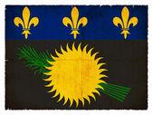 Grunge flag of Gouadeloupe (French) — Stock fotografie