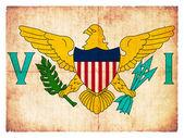 Grunge flag of the American Virgin Islands — Stock Photo
