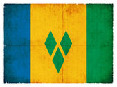 Grunge flag of Saint Vincent and the Grenadines — Stock Photo