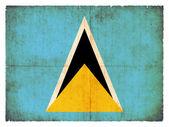 Grunge flag of Saint Lucia — Stock Photo