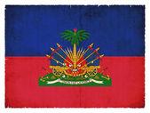 Flaga ilustracja z haiti — Zdjęcie stockowe