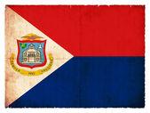 Grunge flag of of the Caribbean island Sint Maarten (Netherlands — Stock fotografie