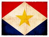 Grunge flag of the Caribbean island Saba — Stock Photo