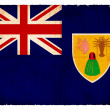 Grunge flag of the Caribbean islands Turks  (British overseas te — Stock Photo