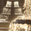 Fountains in Winter — Stock Photo