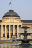Spa house and fountain in Wiesbaden — Stock Photo