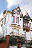 Art Nouveau style house in residential area — Stock Photo