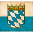 Grunge flag of Bavaria (Germany) — Stock Photo