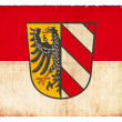 Grunge flag of Nuremberg (Bavaria, Germany) - Stock Photo