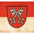 Grunge flag of Regensburg (Bavaria, Germany) - Stock Photo