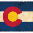 Grunge flag of Colorado (USA) - Foto Stock