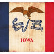 Grunge flag of Iowa (USA) - Stock Photo